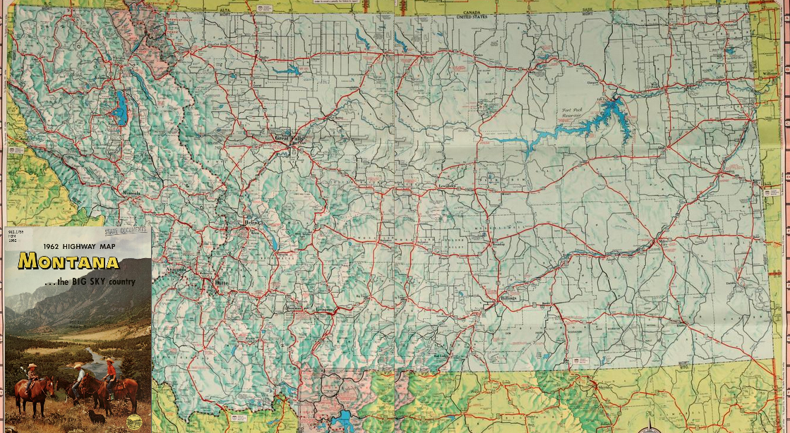 Montana State Highway Map Montana Map