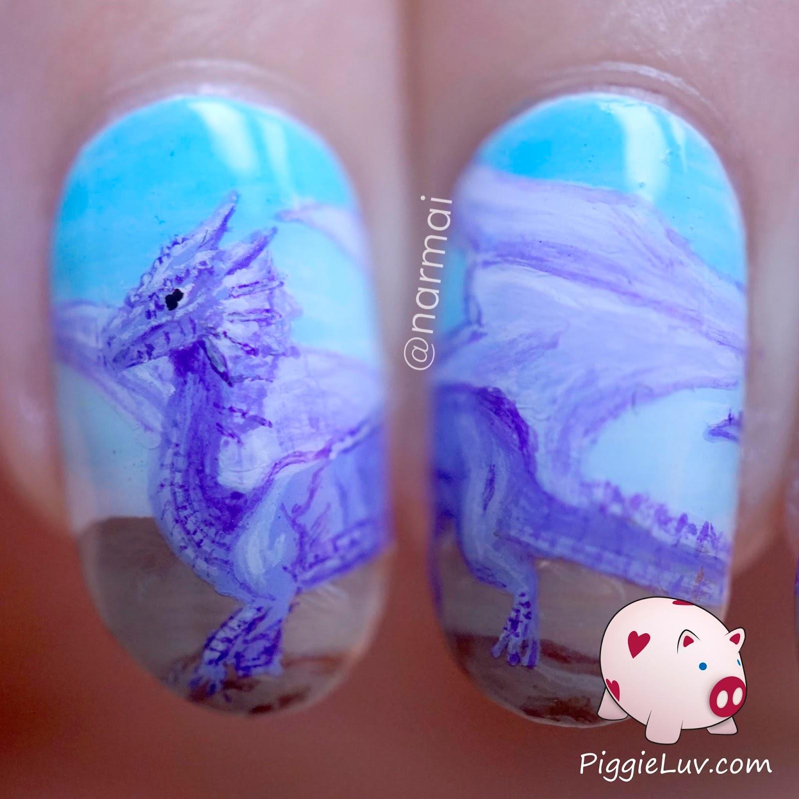 Whole Dragon Dark Purple