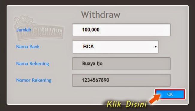PokerBuaya.com Withdraw