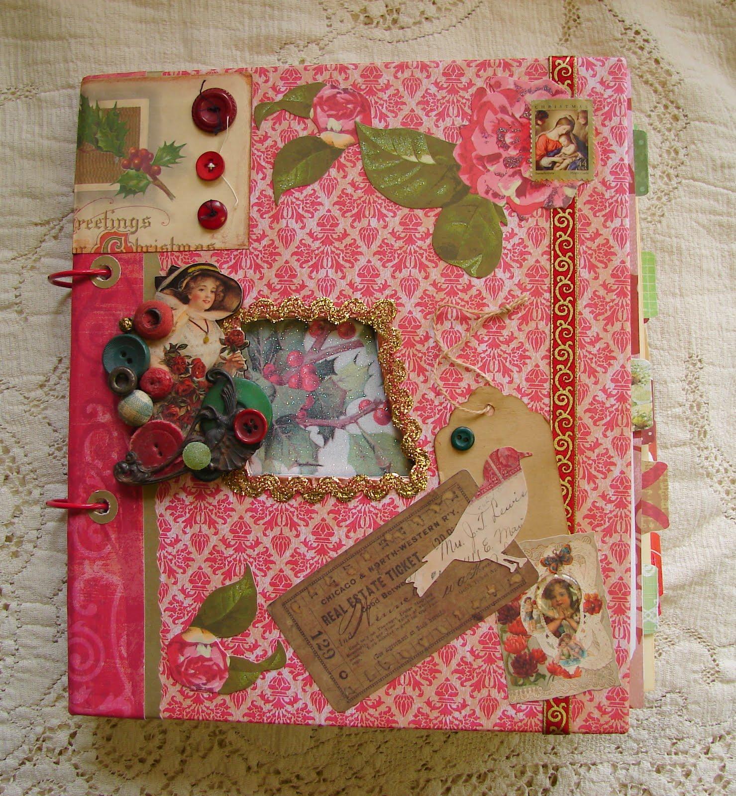 Articreate by lynn lindley holiday decor ideas for Art book decoration ideas