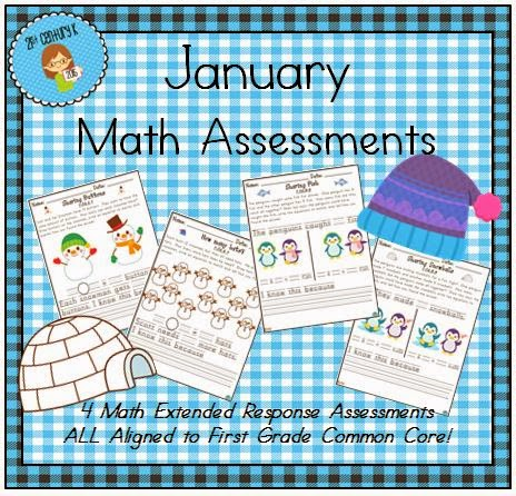 http://www.teacherspayteachers.com/Product/January-Themed-First-Grade-Math-Extended-Response-Bundle-1627550