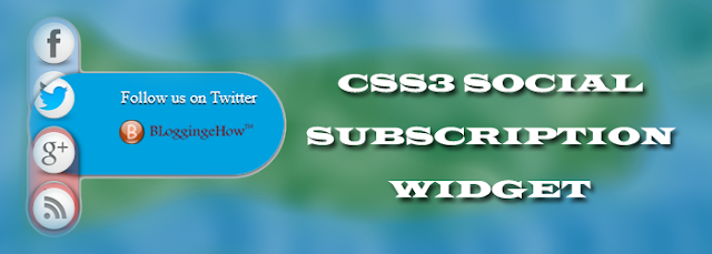 CSS3 Social  Subscription Widget