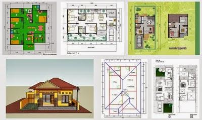 contoh denah rumah sehat sederhana desain denah rumah