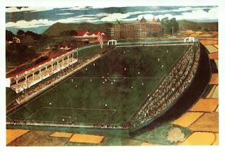 El campo de San Mamés pintado por José Arrúe, en 1914