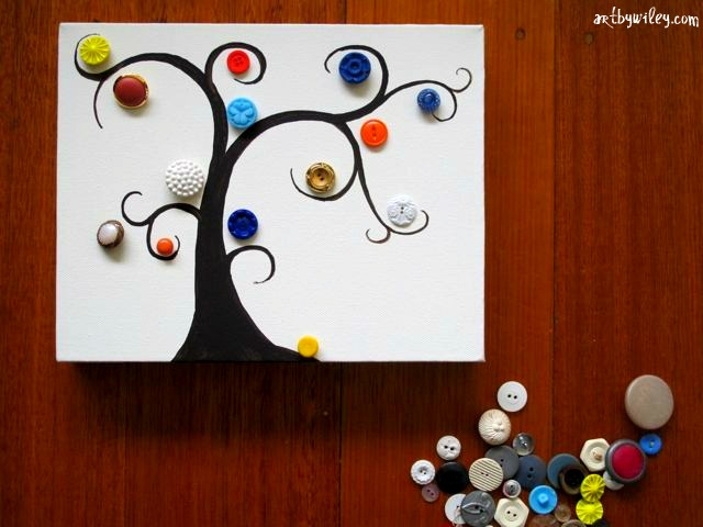 Jodi Wiley Sketchblog: Button Tree Tutorial