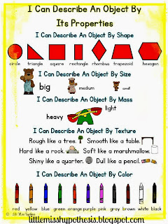 http://www.teacherspayteachers.com/Product/I-Can-Describe-Properties-Of-An-Object-901175