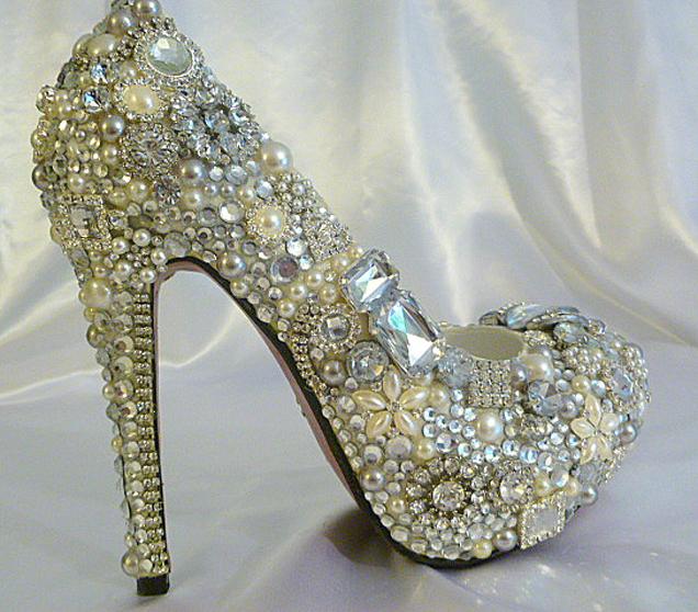Bling Wedding Shoes 43 Nice Custom Bridal Shoe Designs