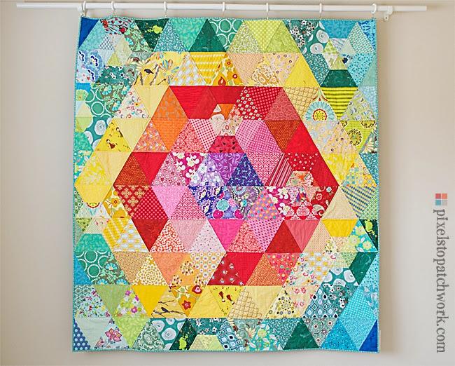 patchwork prism quilt