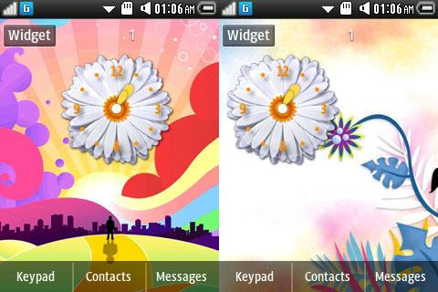 samsung widget flower clock samsung corby 2 gt s3850 free