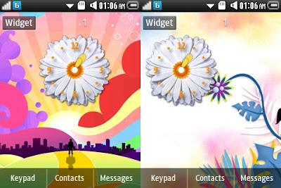 flower clock samsung widgets