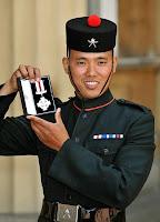 Dip Prasad Pun receives Gallantry Cross