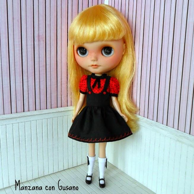 Manzana con gusano Blythe Doll Clothes