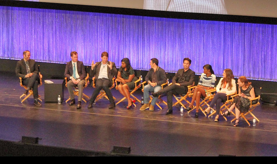 "The cast of ""The Mindy Project"" on-stage at the Dolby Theatre"