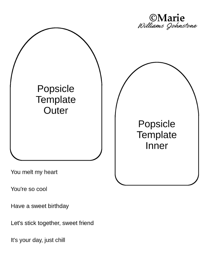 Popsicle card tutorial and free template free printable popsicle iced lolly shaped template pattern pronofoot35fo Choice Image