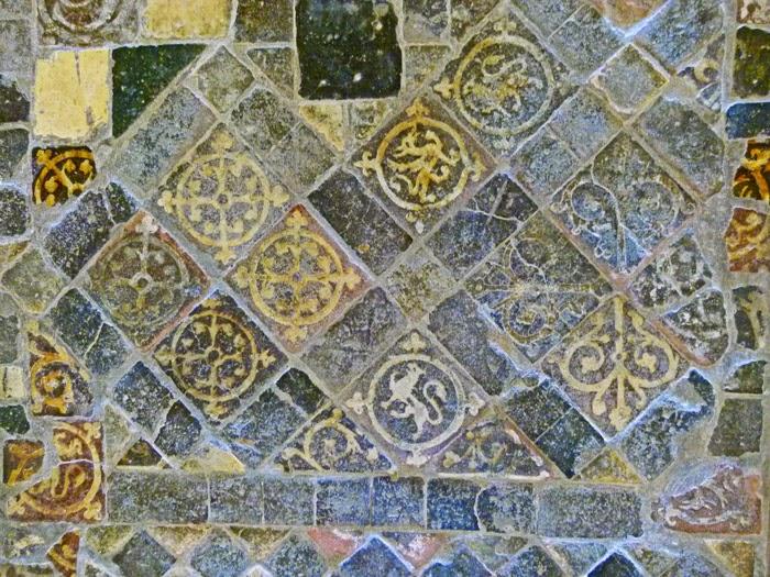 Medieval floor tiles, Lacock Abbey