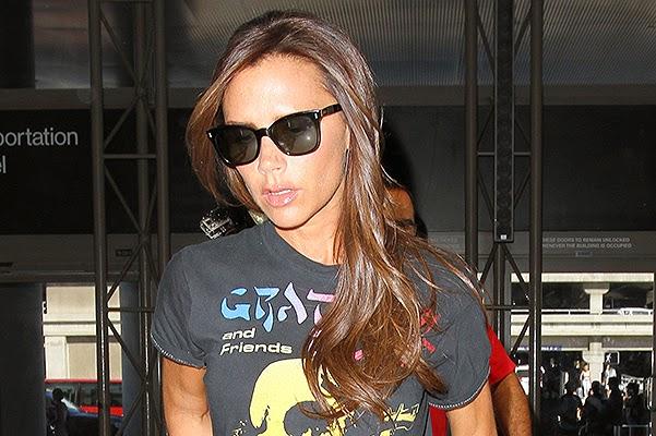 Victoria Beckham in Los Angeles airport