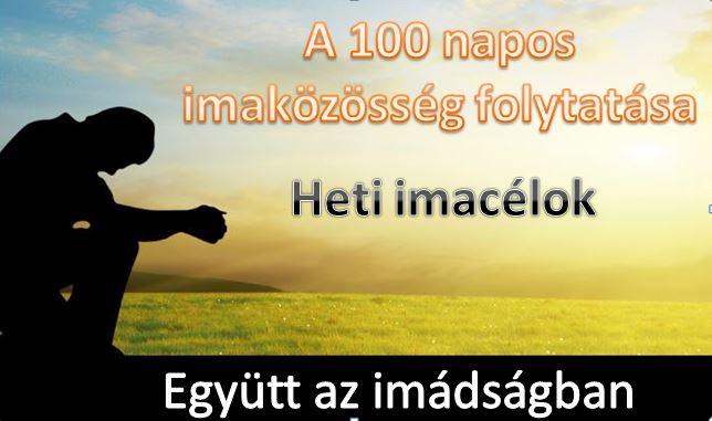 100 nap imádságban folytatása