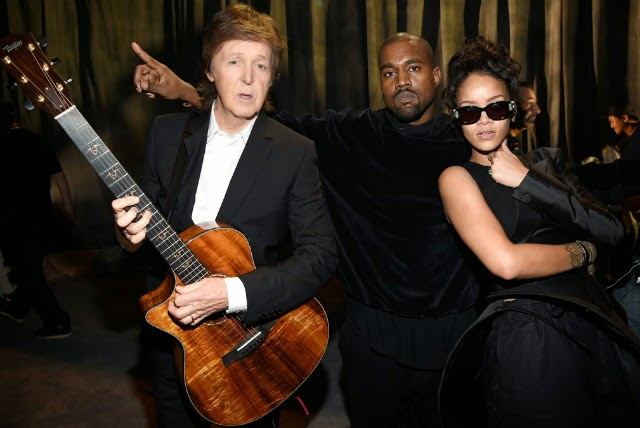Kanye West, Paul McCartney y Rihanna