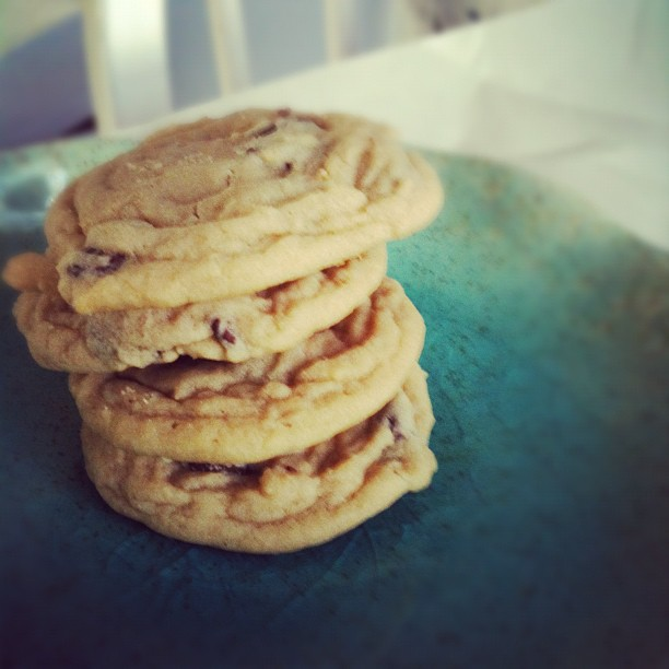 Soft And Chewy Chocolate Chip Cookies Fresh From The
