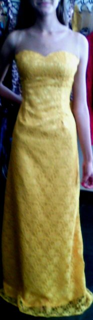 vestido de tule bordado com musseline