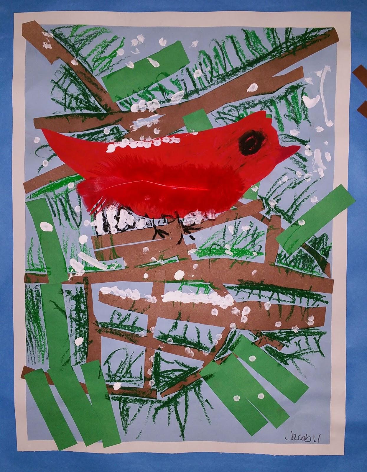 First Grade Winter Birds