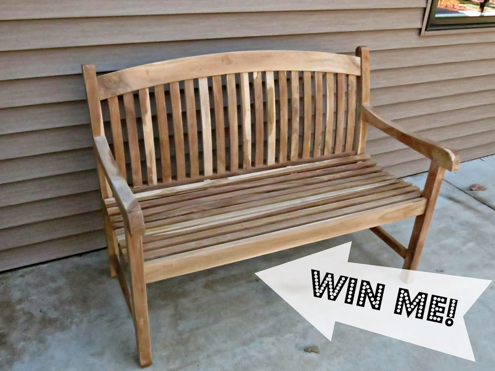 Right after rearranging the garden - Let S Just Build A House Giveaway Teak Closeouts