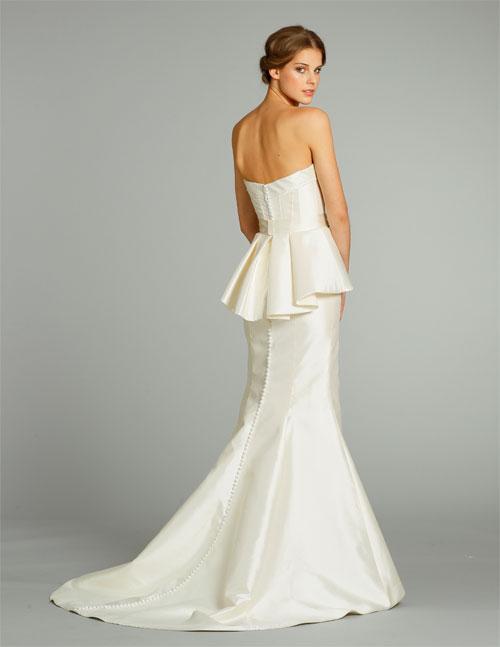 Unique and perfect vestidos de novia p plum peplum for Peplum dresses for weddings
