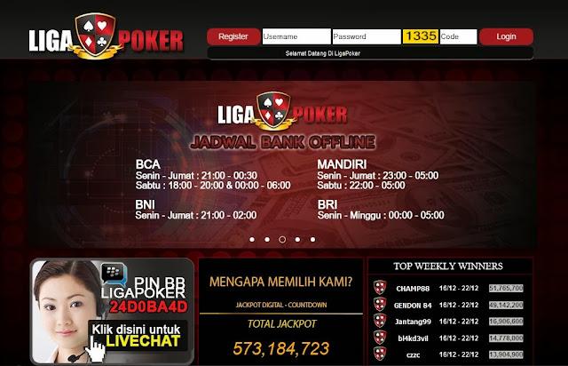 Daftar Poker Online uang Asli ligapoker.com