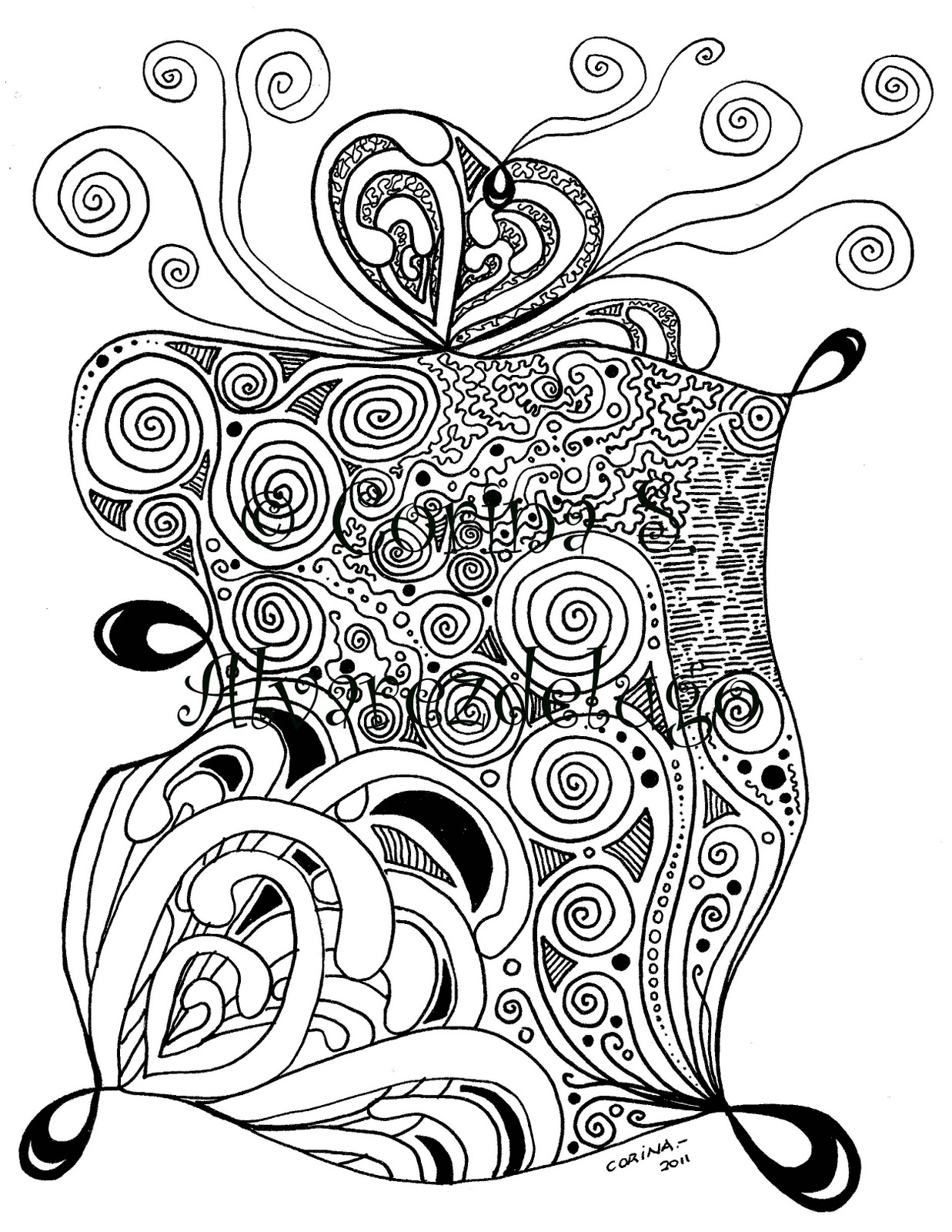 ZENTANGLE  174  INSPIRED DRAWINGSUnique Drawing Designs