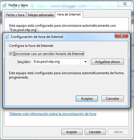 Cambiar la hora en Windows utilizando NTP - GUI