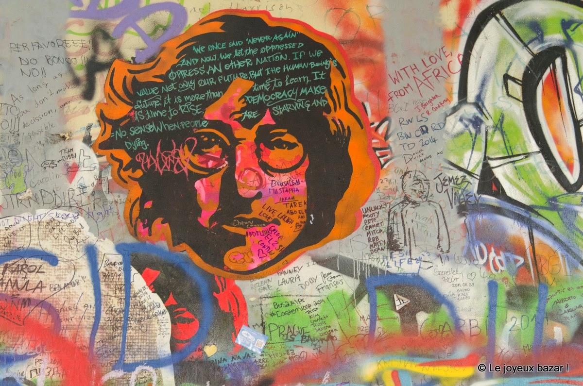 Prague - Mala Strana - mur John Lennon