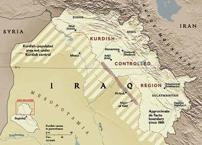 Between iraq s government and kurds over oil in disputed territories