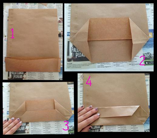 Le idee color dei sogni sacchetto di carta fai da te - Come fare un porta lettere ...