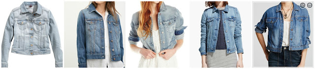 H&M Denim Jacket $20.00 (regular $34.95)   Forever 21 Classic Denim Jacket $21.00 (regular $29.90)  Silver Jeans Long Sleeve Cropped Joga Denim Jacket $27.17 (regular $88.00)  Mango Light Denim Jacket $34.99 (regular $69.99)  Free People Jacket Tencel Denim Swing $89.60 (regular $128.00)