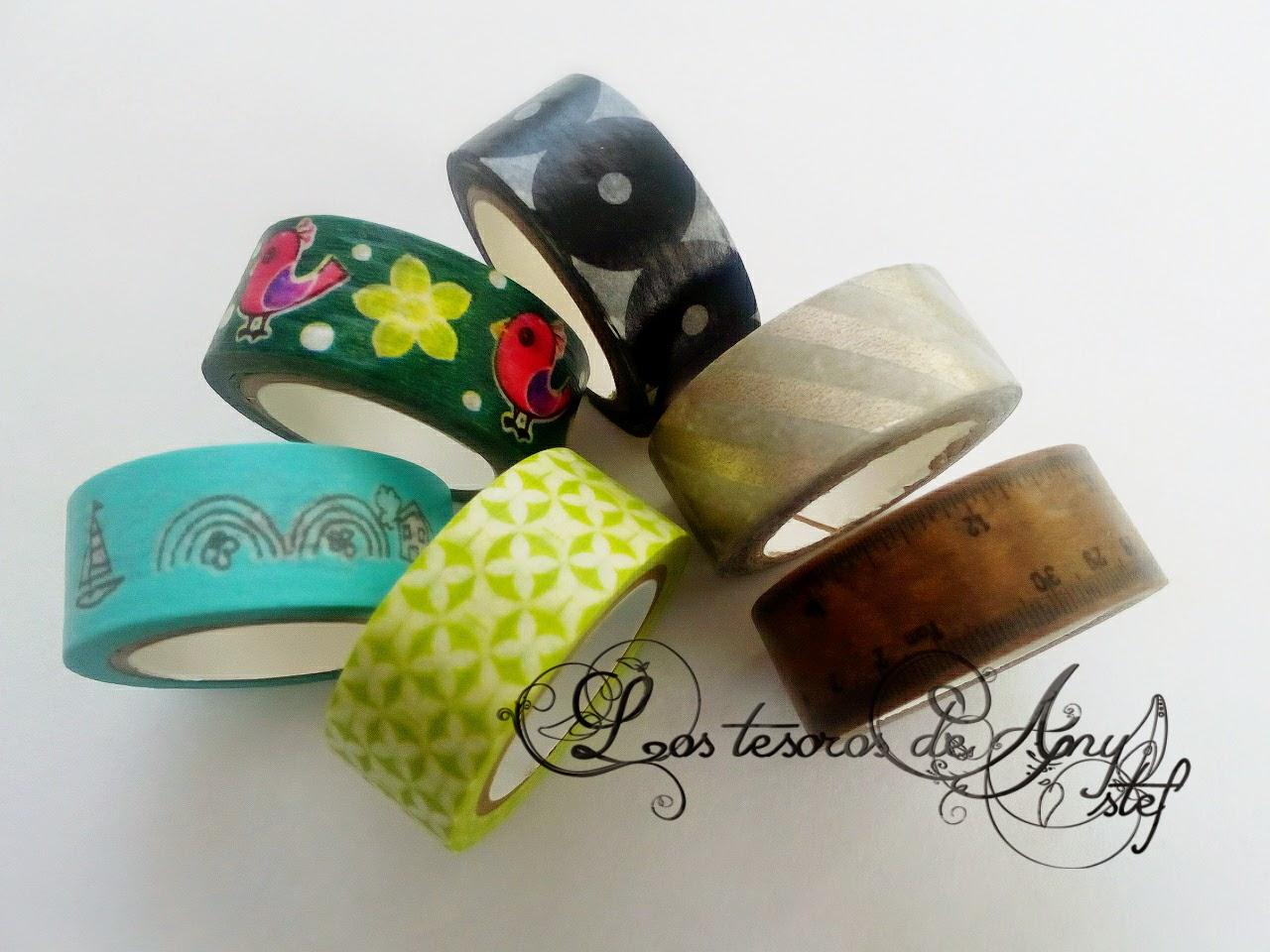Washi tape de estampados y colores