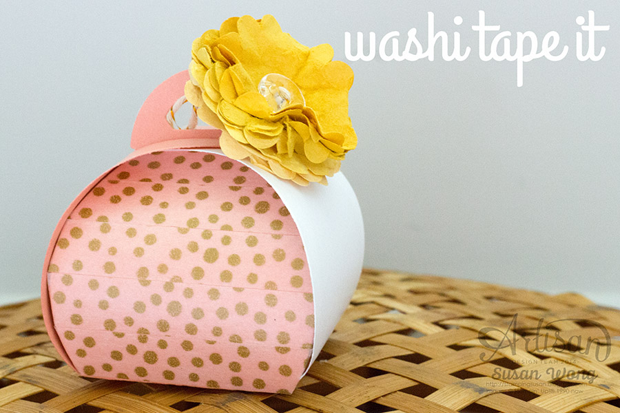 Curvy Keepsake Thinlits + Watercolour Wonder Washi Tape ~ Susan Wong