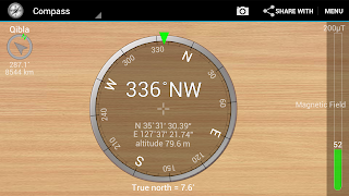 android how to get azimuth pitch roll