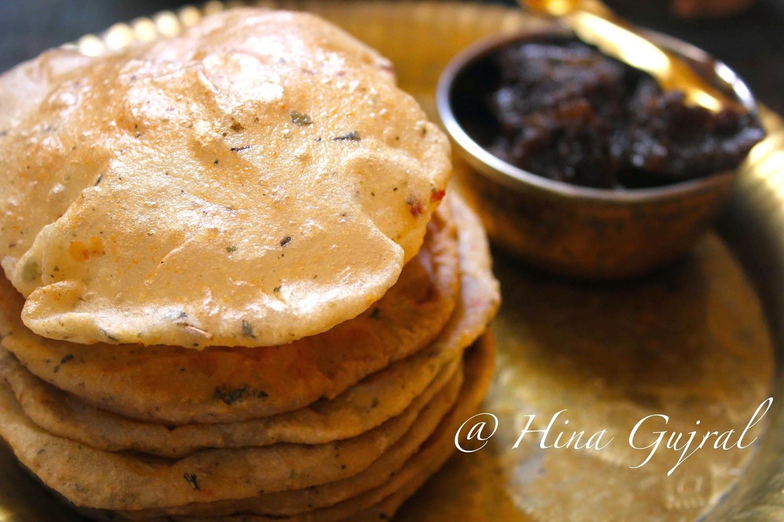 Masala Garlic Cheese Puri/Poori Recipe