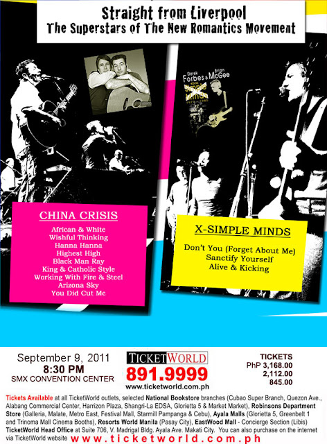 China Crisis, Brian McGee & Derek Forbes LIVE in Manila, picture, image, poster, wallpaper, pic, photo, tickets, ticket details, September 9, 2011