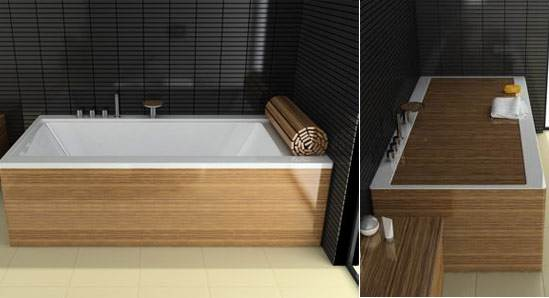 Rivestimento In Legno Per Vasca Da Bagno : 3 idee creative per decorare ed utilizzare la vasca da copertura