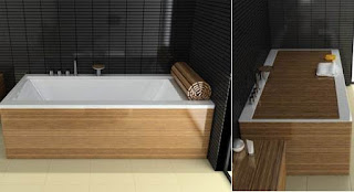 copertura in legno per vasca da bagno immagine