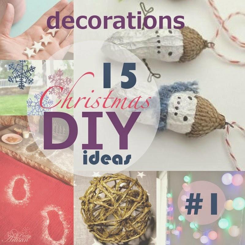 15 DIY pomysłów na świąteczne ozdoby / 15 DIY Christmas decorations ideas