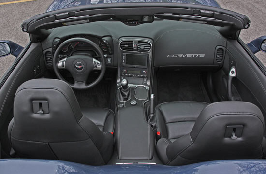 Interior of 2011 Corvette GS Convertible
