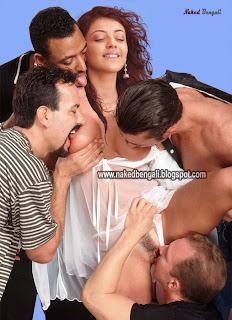 Naked Kajal Agarwal Group Sex Photo