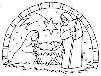 gambar mewarnai kelahiran yesus untuk bahan sekolah minggu