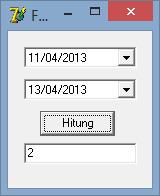 Menghitung selisih dua tanggal