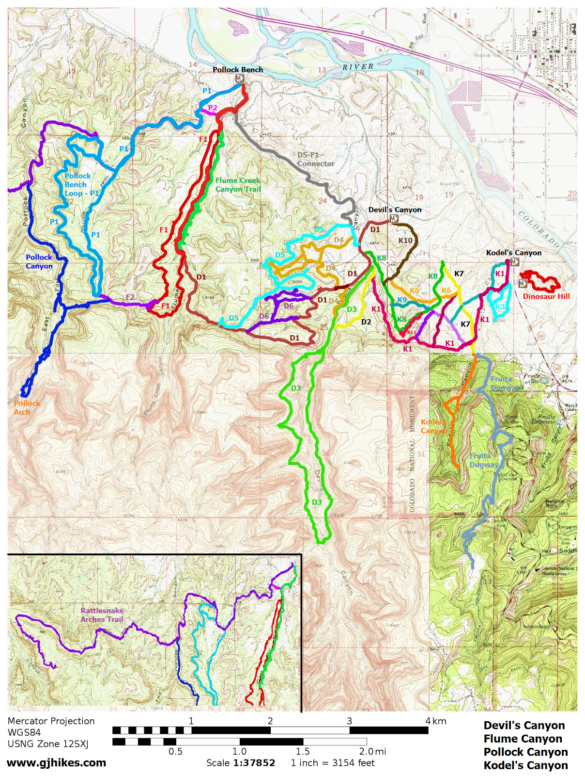 Gjhikescom Flume Canyon F - Unmarked map