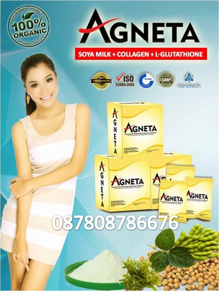 Agneta : Soya Milk + Collagen + L-Glutathione