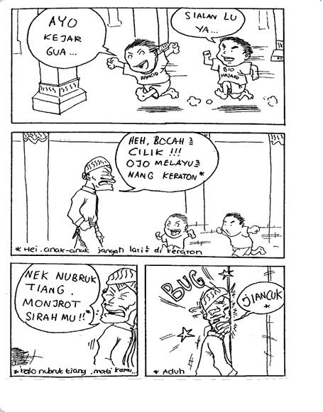 Komik Lucu Singkat Ngakak, Gak masuk Nyesel