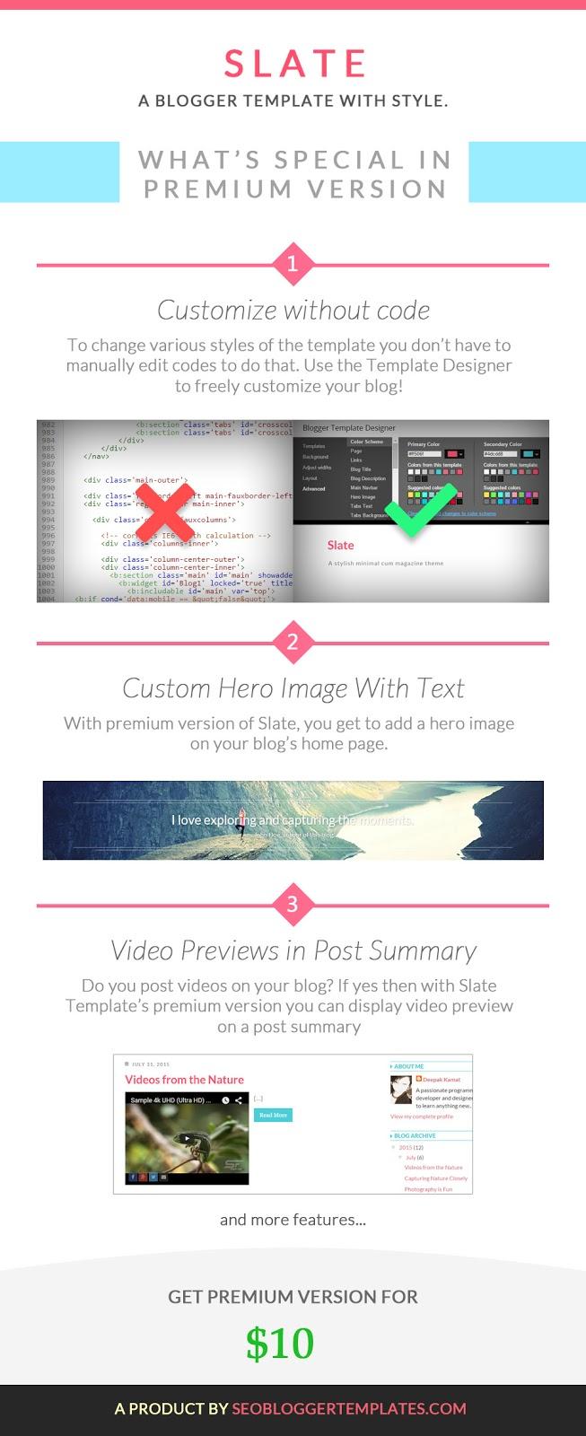 premium slate blogger template